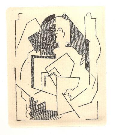 Incisione Gleizes - Pascal.  Pensées sur l'homme et Dieu (restrikes of 22 etchings)