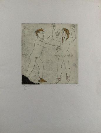 Acquaforte E Acquatinta Manzu - Passo di danza I