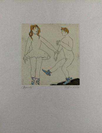 Acquaforte E Acquatinta Manzu - Passo di danza II