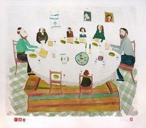 Incisione Van Der Westhuizen - Passover meal