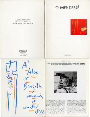 Non Tecnico Debré - Pastel original sur un catalogue d'exposition (1993)