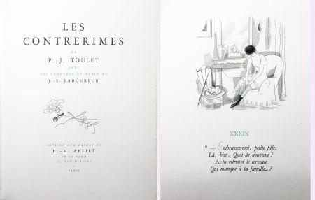 Libro Illustrato Laboureur - Paul-Jean Toulet : LES CONTRERIMES. 63 gravures originales (1930)