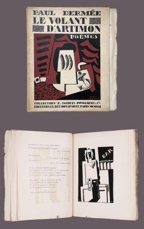 Libro Illustrato Marcoussis - Paul Dermée : LE VOLANT D'ARTIMON. POÈMES. 1 des 10 Hollande avec envoi.