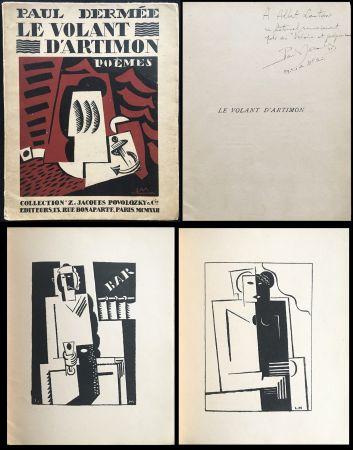 Libro Illustrato Marcoussis - Paul Dermée : LE VOLANT D'ARTIMON. POÈMES. Exemplaire avec envoi
