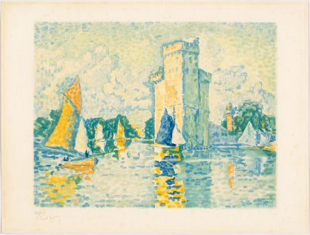 Acquatinta Signac - Paul Signac, Le Port de La Rochelle. 1924. Aquatinte signée.