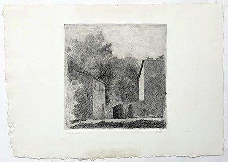 Incisione Morandi - Paysage