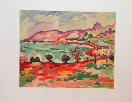 Litografia Braque - Paysage A L'estaque Lithographie