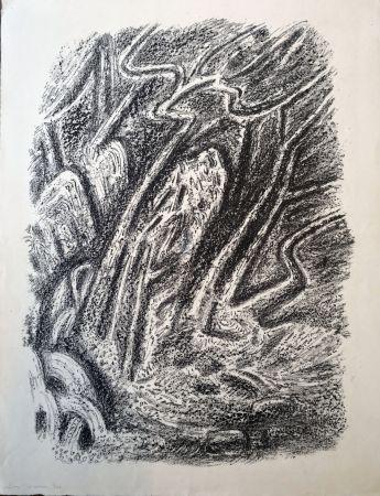 Litografia Masson - Paysage au Cascatelles
