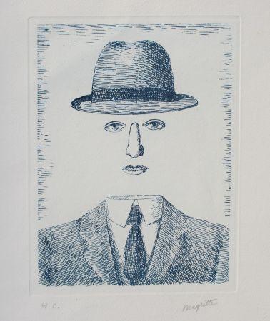Acquaforte Magritte - Paysage de Baucis