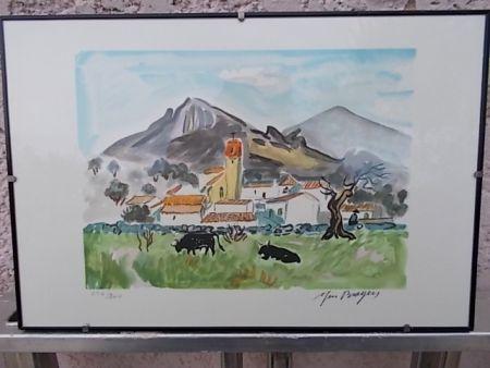 Litografia Brayer - Paysage de Camargue