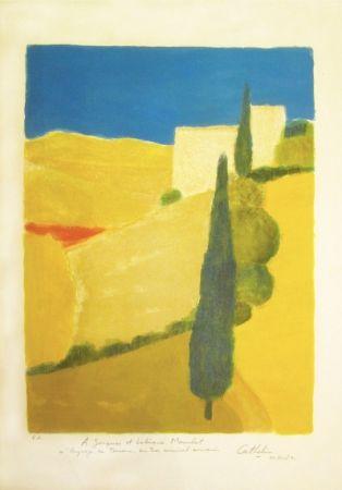 Litografia Cathelin - Paysage de Toscane