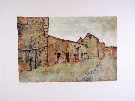 Litografia Gantner - Paysage du Jura - Landscape of the Jura