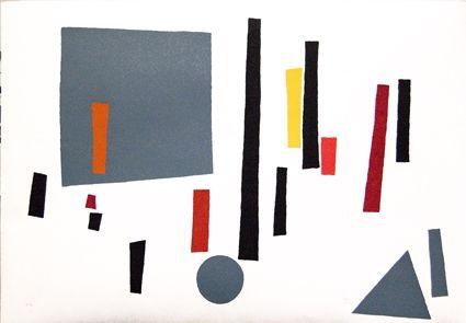 Serigrafia Goeritz  - Paysage Géométrique