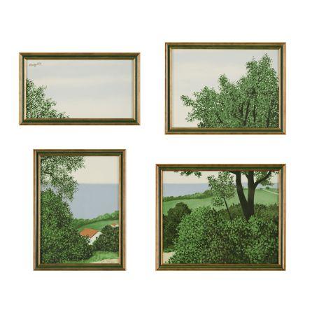 Litografia Magritte - Paysage Ou Profondeur De La Terre
