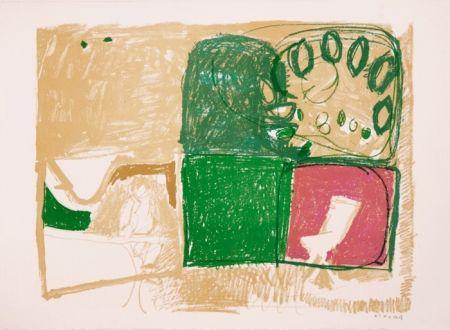 Litografia Kimura - Paysage vert et violet
