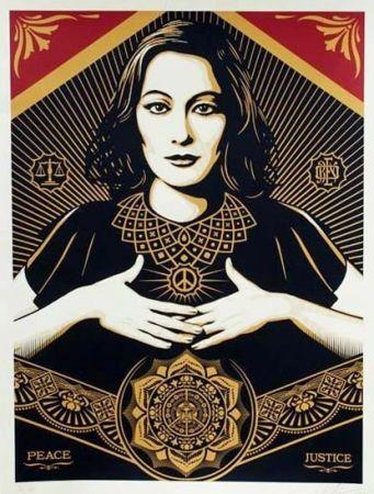 Serigrafia Fairey - Peace and Justice (Large Format)
