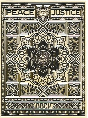 Serigrafia Fairey - Peace and Justice Ornament (Black)