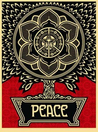 Serigrafia Fairey - Peace Tree