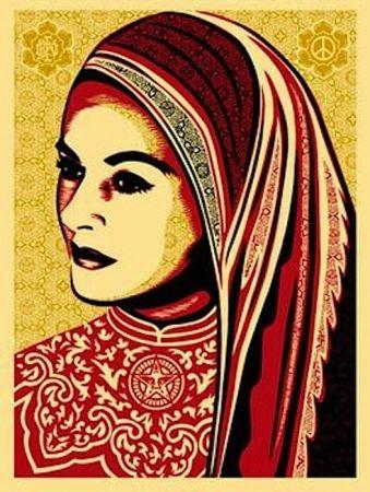 Serigrafia Fairey - Peace Woman