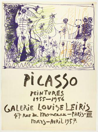 Litografia Picasso - Peintures 1955 - 1956 (Galerie Louise Leiris)