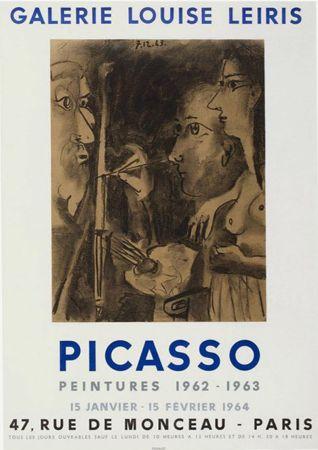 Litografia Picasso - '' Peintures 1962 - 1963 ''