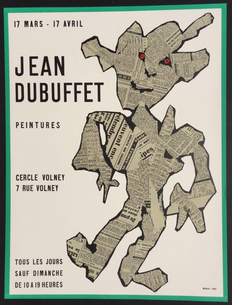 Litografia Dubuffet - Peintures, Cercle Volney