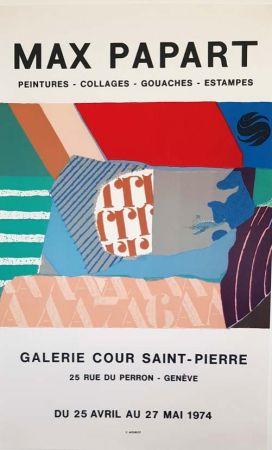 Litografia Papart - Peintures Collages  Gouaches  Estampes Galerie Cour St Pierre