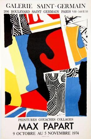 Litografia Papart - Peintures Gouaches Collages Galerie St Germain