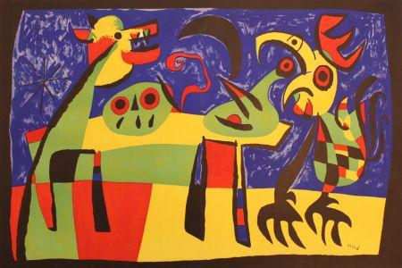 Litografia Miró - Perro Ladrando A La Luna