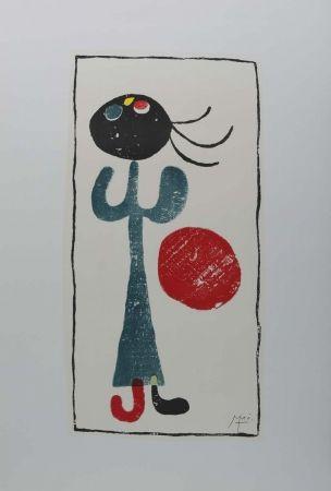 Litografia Miró (After) - Personaje