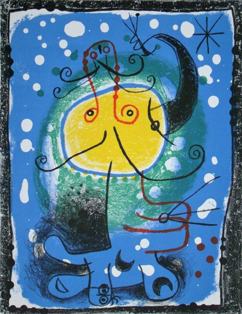 Litografia Miró - Personnage