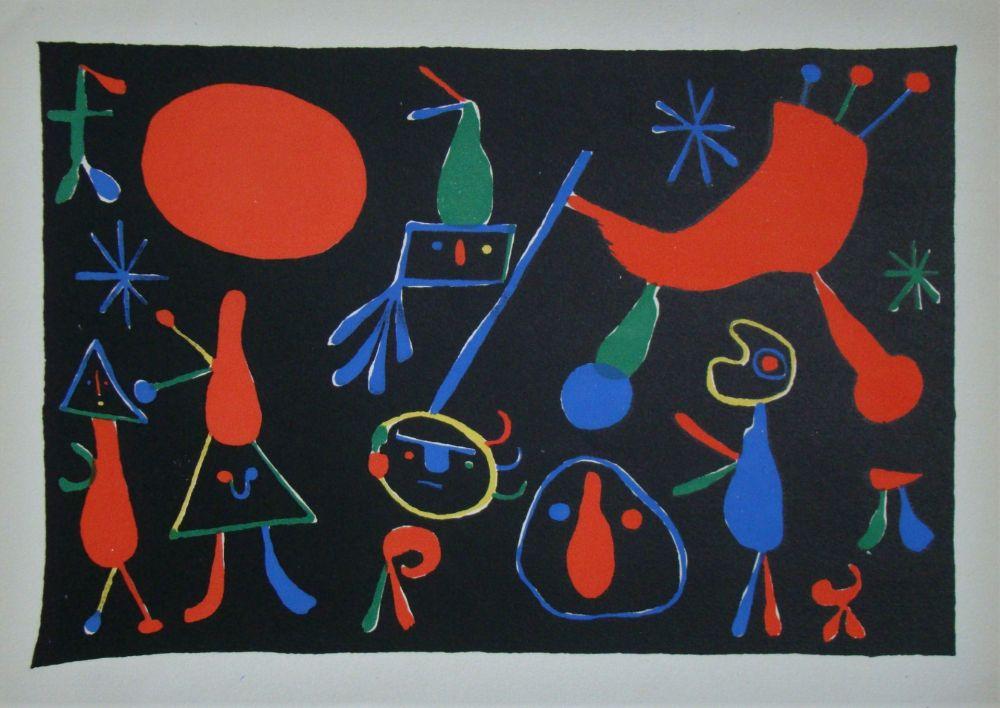 Litografia Miró - Personnages