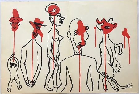 Litografia Calder - Personnages I (1966)