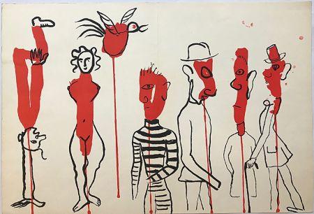 Litografia Calder - Personnages II (1966)