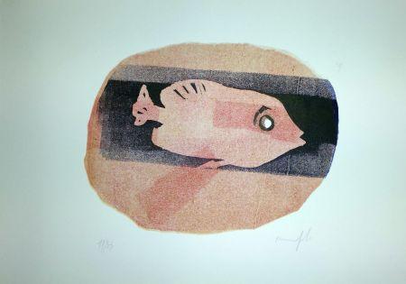 Linoincisione Manfredi - Pesce