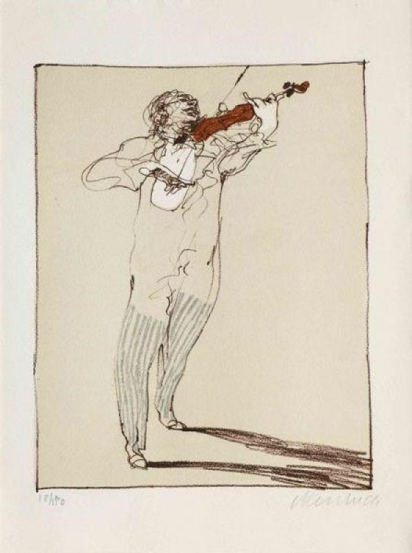Litografia Weisbuch - Petit violoniste
