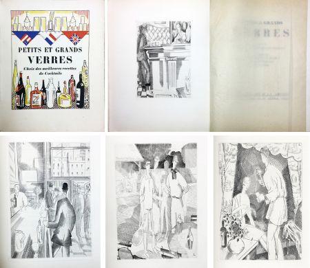 Libro Illustrato Laboureur - PETITS ET GRANDS VERRES. Choix des meilleures recettes de Cocktails, recueilli par Nina Toye et A. H. Adair. Gravures et dessins de J.-E. Laboureur.