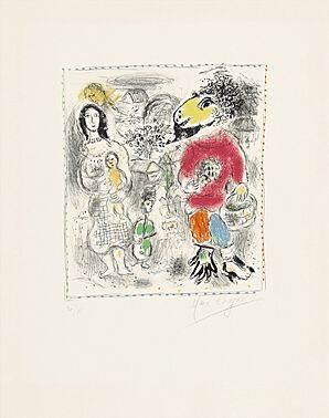 Litografia Chagall - Petits paysans II (Kleinbauern II)