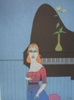 Incisione Wunderlich - Pianiste