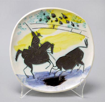 Ceramica Picasso - Picador And Bull, 1953
