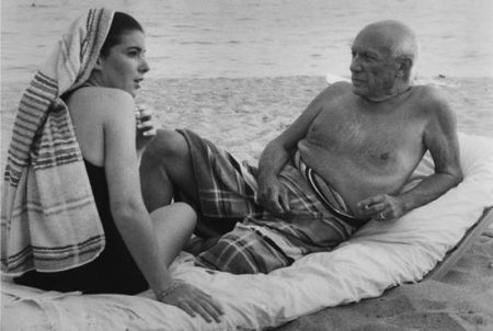 Fotografie Clergue - Picasso And Cathy