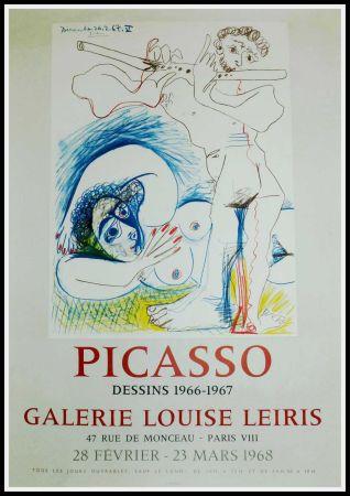 Manifesti Picasso - PICASSO, DESSINS 1966-1967 GALERIE LEIRIS 1968