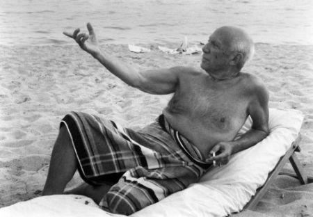 Fotografie Clergue - Picasso En La playa