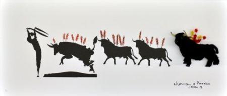 Litografia Leirner - Picasso Toros-1