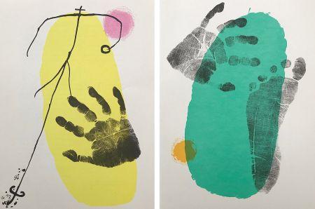 Litografia Miró - Pieds et Mains (Paire)