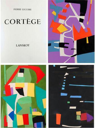 Libro Illustrato Lanskoy - Pierre Lecuire : CORTÈGE. 24 pochoirs (ex. de tête avec suite complète) 1959.