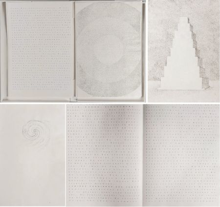 Libro Illustrato Pagava - Pierre Lecuire : POÈMES MÉTAPHYSIQUES. 7 pointes sèches de Véra Pagava (1979) (1975)
