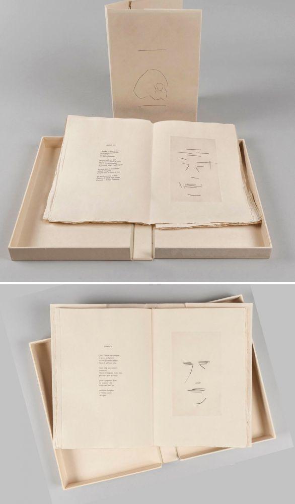 Libro Illustrato Aguayo  - Pierre Lecuire : SONNETS FUNÈBRES. 12 gravures de Femin Aguayo (1975)