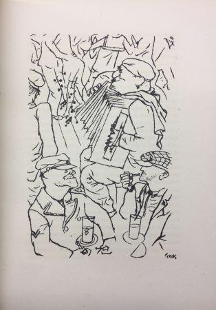 Libro Illustrato Grosz - Pierre Mac Orlan : PORT D'EAUX MORTES. Lithographies de Georges Grosz. 1926.