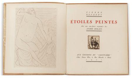 Libro Illustrato Derain - Pierre Reverdy :  ÉTOILES PEINTES. Avec une eau-forte originale de André Derain (1921)